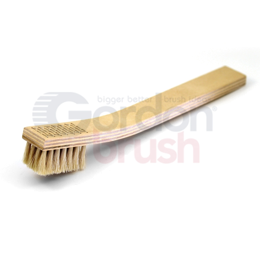 4 x 7 Row Horsehair and Plywood Handle Heavy Duty Scratch Brush