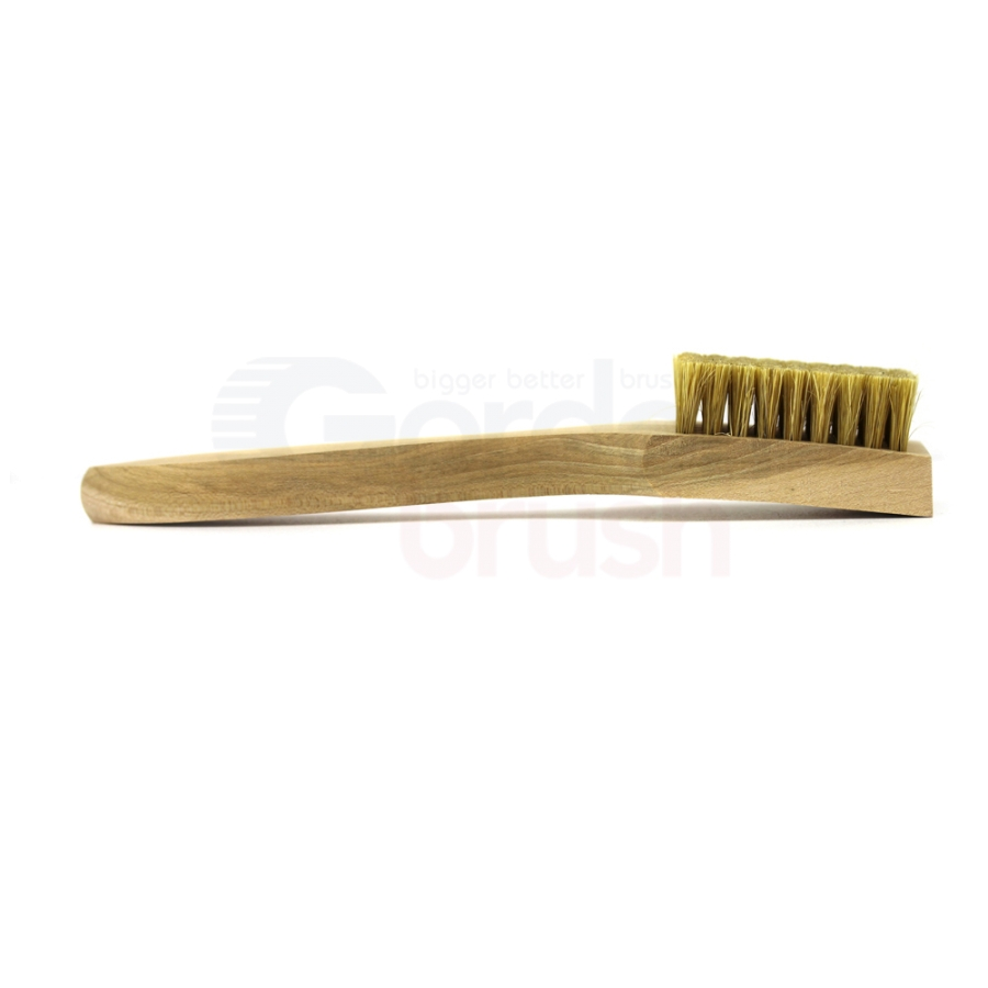 5 x 9 Row Hog Bristle and Shaped Wood Handle Scratch Brush 3