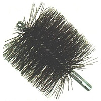 "6"" Duct and Flue Brush - Single Spiral, Double-Stem"