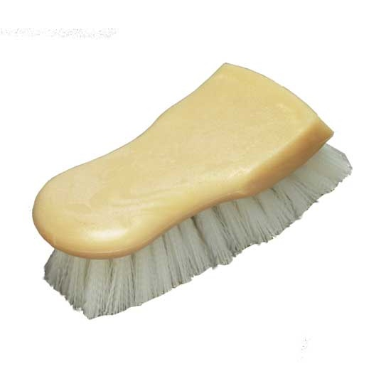 "6"" Utility Brush - Nylon Bristle and Swiss Style Block"
