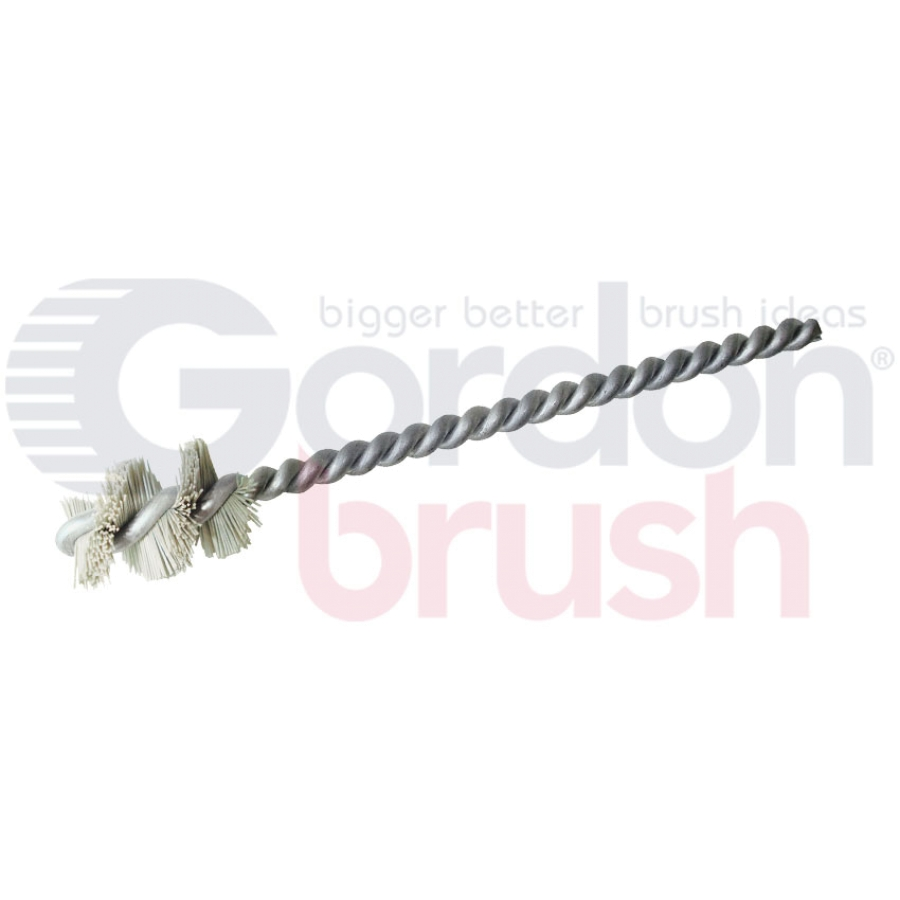 ".640"" Diameter with 600 Grit Aluminum Oxide Nylon and Galvanized Stem Wire Micro Spiral Brush"