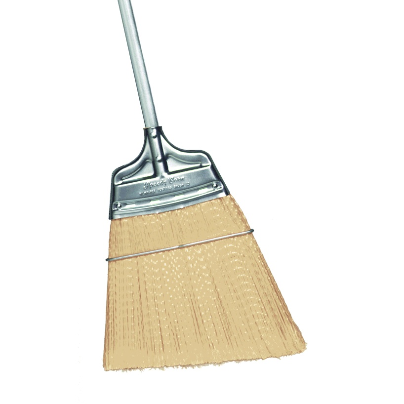 Angled Moderate Stiffness Speedy Corn® Broom with Polypropylene Bristles and Steel Handle