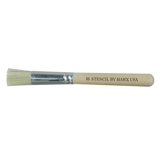 Artist Stencil Brush Size 10 White
