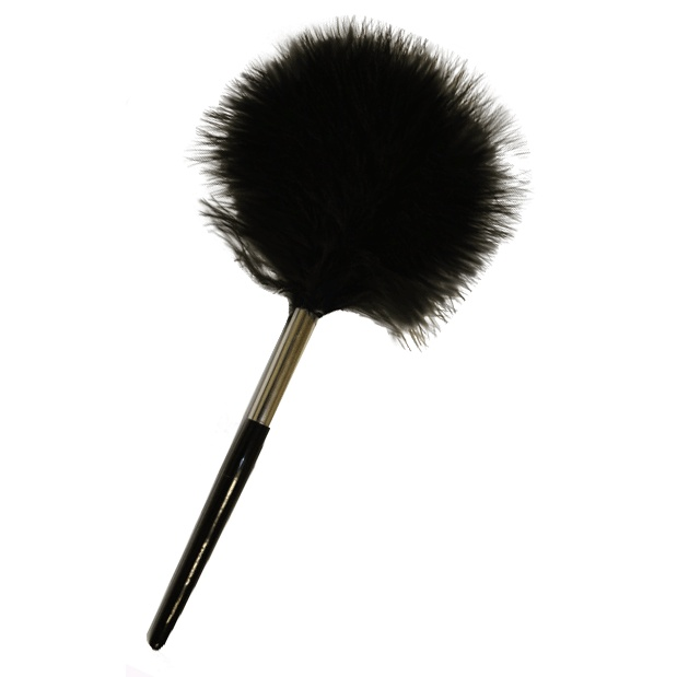 Black Feather Fingerprint Dusting Brush