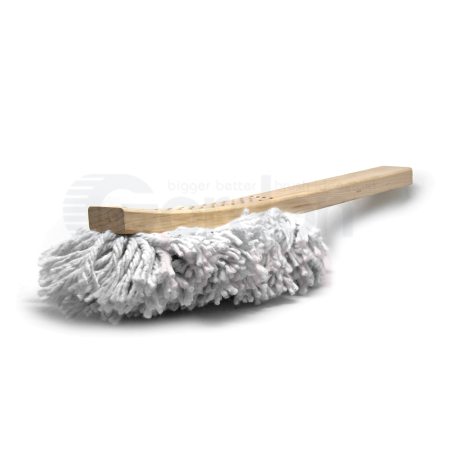 Cotton Swab Brush Hand-Laced into Wood Handle