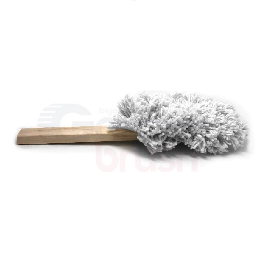 Cotton Swab Brush Hand-Laced into Wood Handle 3