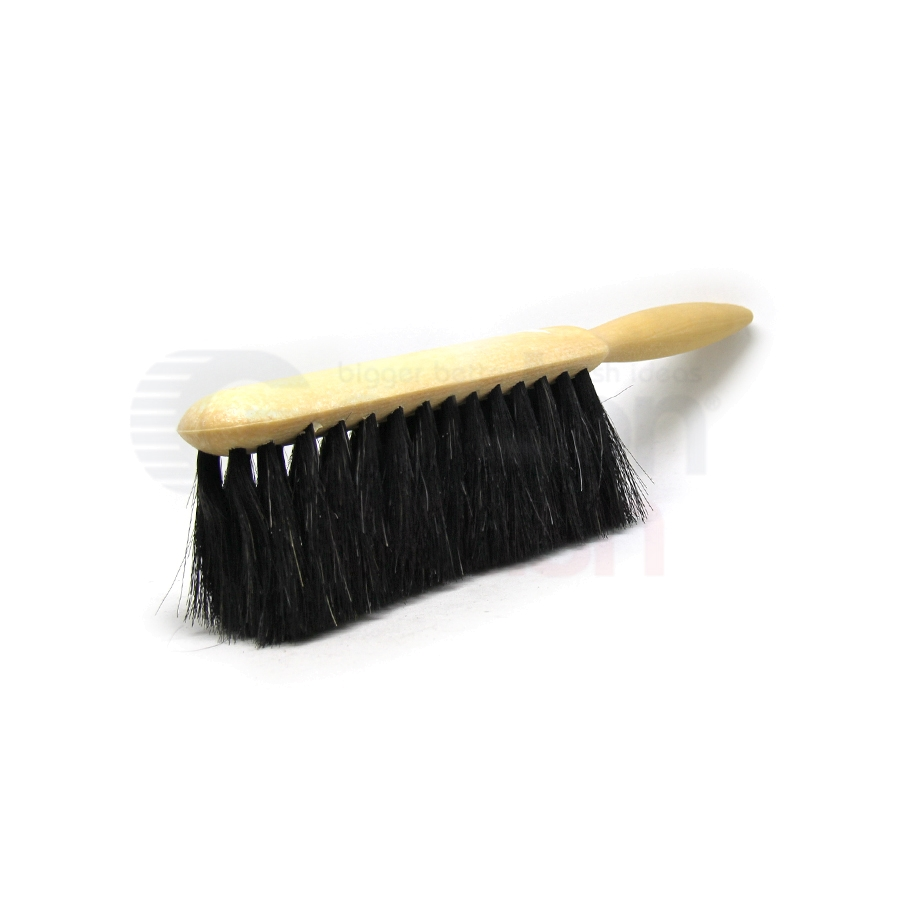 Counter Duster for Fine Dusting – 5 x 15 Row Horsehair Bristle Plastic Handle