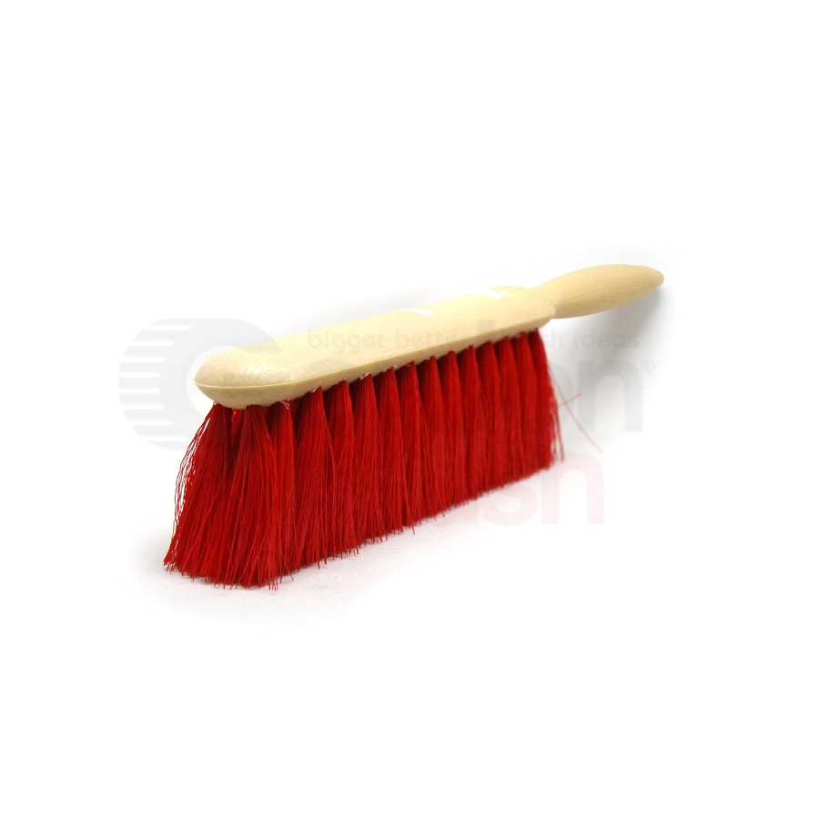 Counter Duster – Red 5 x 15 Row Polypropylene Bristle Plastic Handle