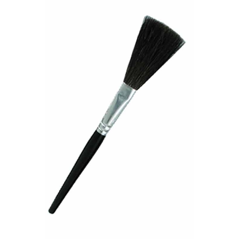 Flat Wide Black Goat Fingerprint Brush