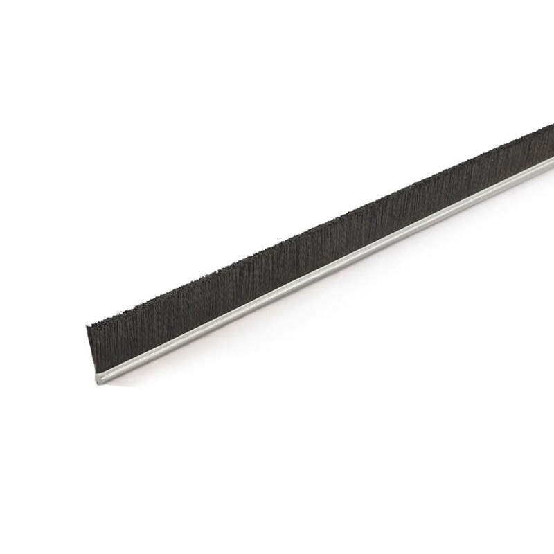 "Height .63"" No. 2.5 Channel Strip Brush - .006"" Bristle Diameter - Black Polypropylene"