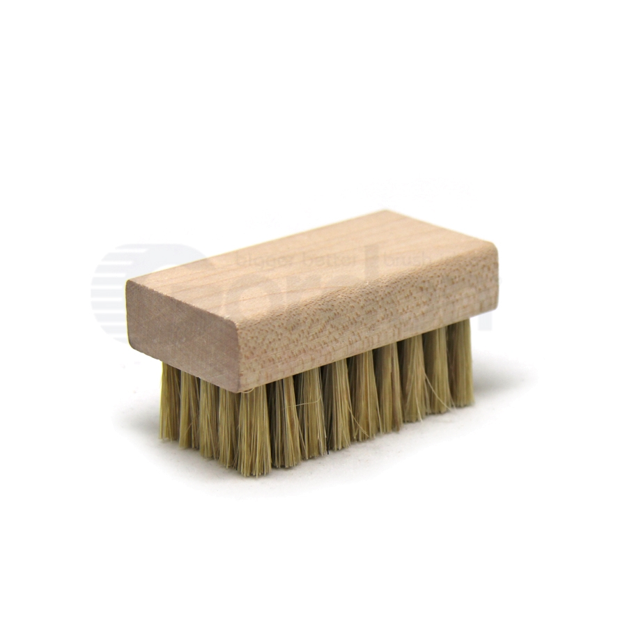 "Hog Bristle, 2-1/2"" x 1-3/8"" Wood Block Scrub Brush"