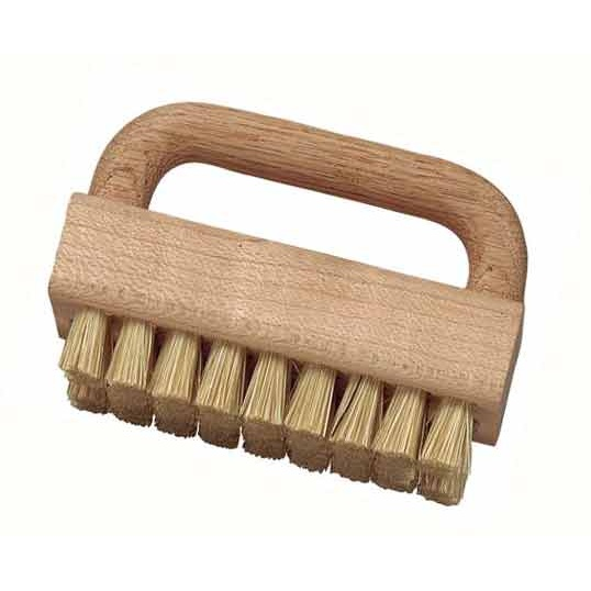"Hog Bristle, 3-1/2"" x 2-1/4"" Wood Handle Block Scrub Brush"