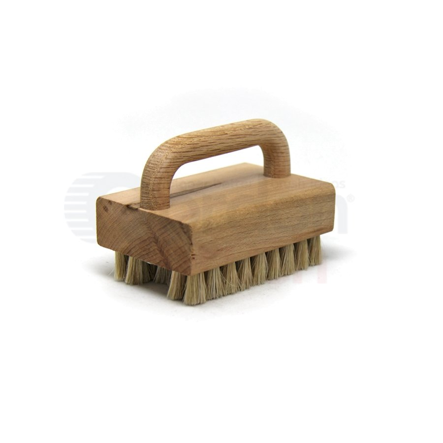 "Horse Hair Bristle, 3-1/2"" x 2-1/4"" Wood Handle Block Scrub Brush"