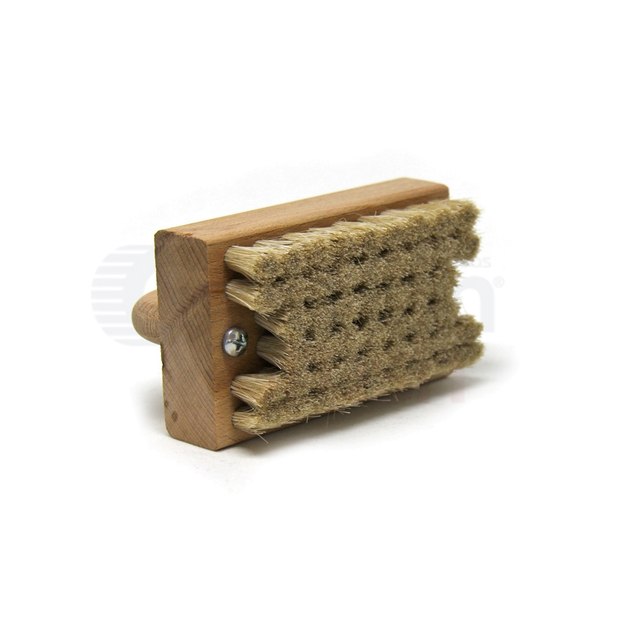 "Horse Hair Bristle, 3-1/2"" x 2-1/4"" Wood Handle Block Scrub Brush 2"