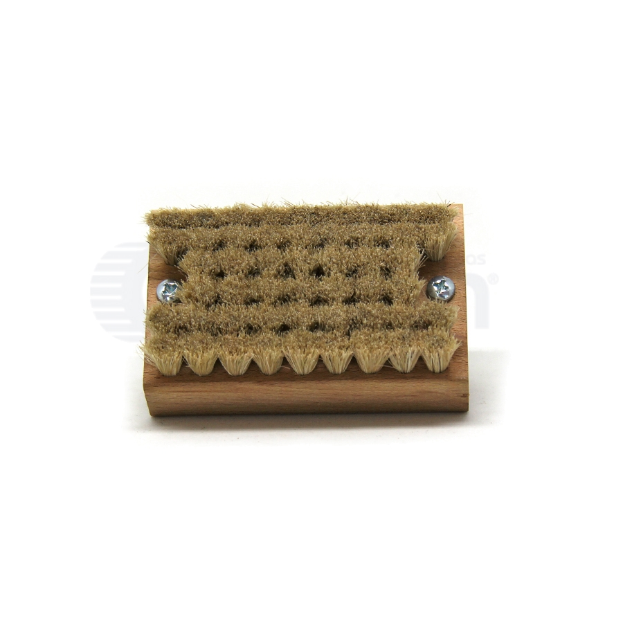 "Horse Hair Bristle, 3-1/2"" x 2-1/4"" Wood Handle Block Scrub Brush 3"