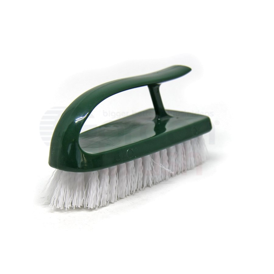"Iron Handle Scrub Brush – 0.013"" Polypropylene Bristle with Plastic Handle"