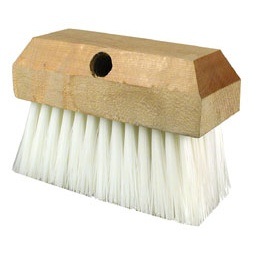 Nylon Bristle and Wood Block Scrub Brush Head (Small)