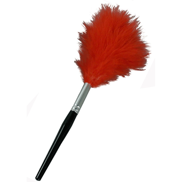 Red Feather Fingerprint Dusting Brush