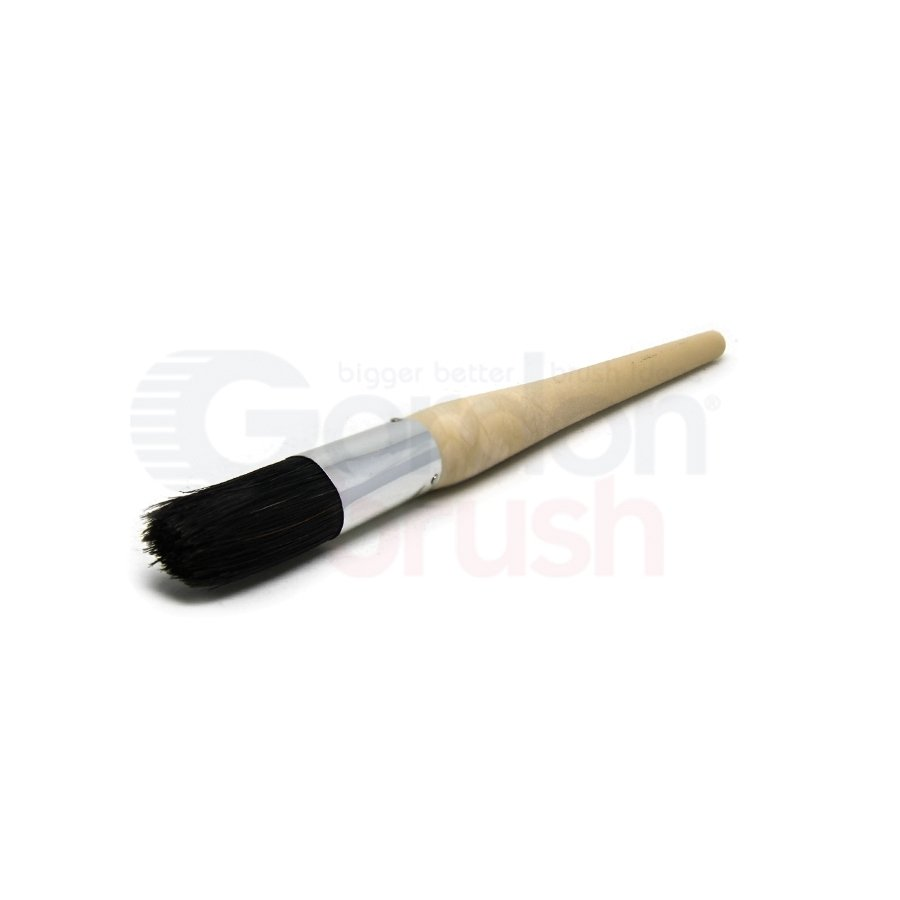 Size 4 Hog Bristle and Plastic Handle Sash Brush