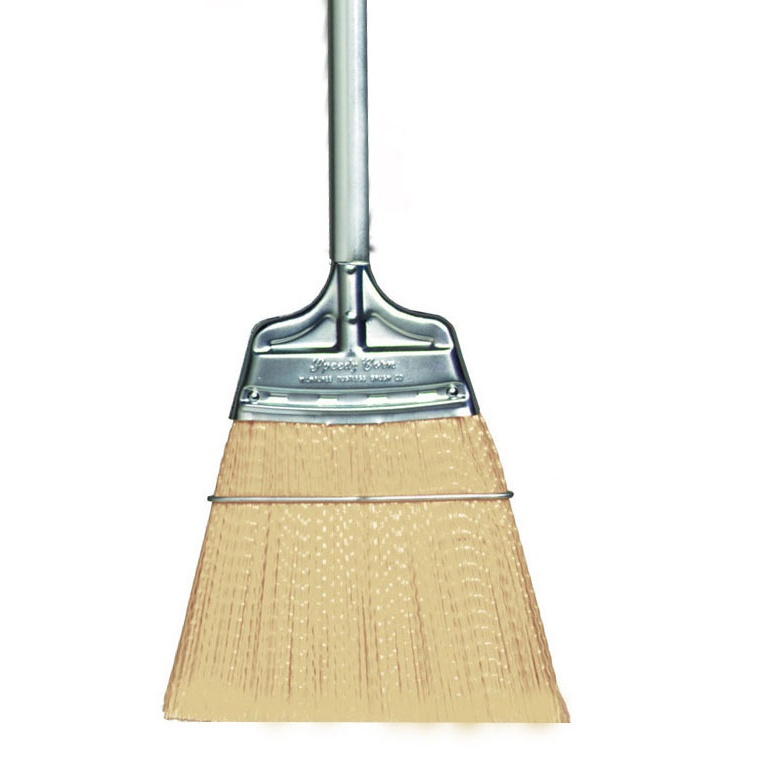 Straight Moderate Stiffness Speedy Corn® Broom with Polypropylene Bristles and Steel Handle