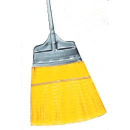 Straight Stiff Speedy Corn® Broom with Polypropylene Bristles and Steel Handle