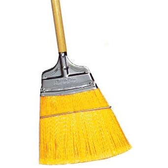 Straight Stiff Speedy Corn® Broom with Polypropylene Bristles and Wood Handle