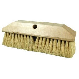 Tampico Bristle and Wood Block Scrub Brush Head