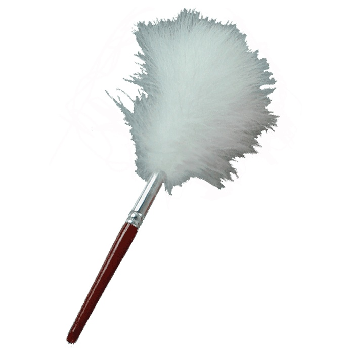 White Feather Fingerprint Dusting Brush